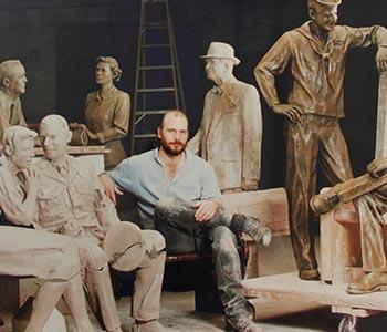Sculptor John Laiba