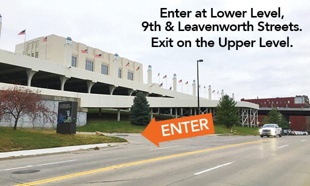 Enter at 9th & Leavenworth Streets