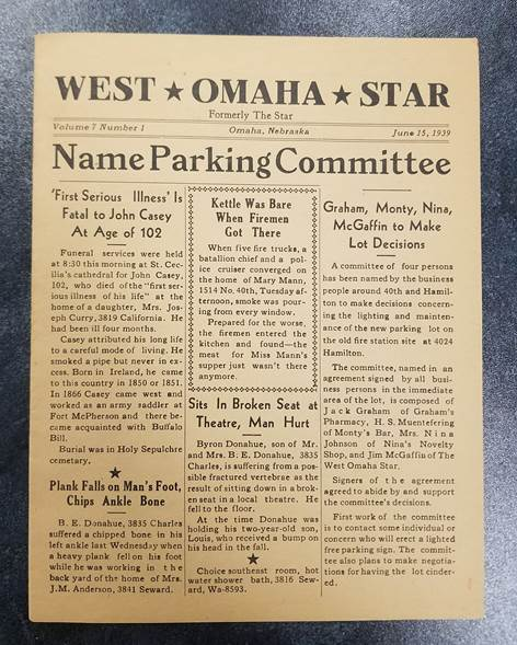 West Omaha Star front page