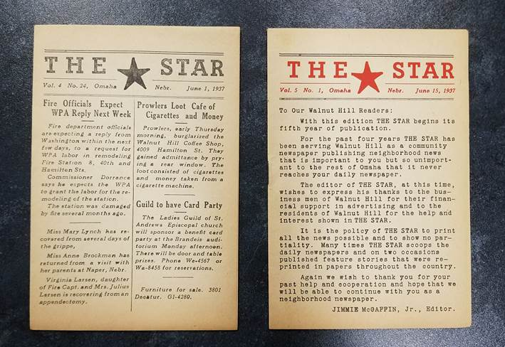 Two front pages of The Star newspaper
