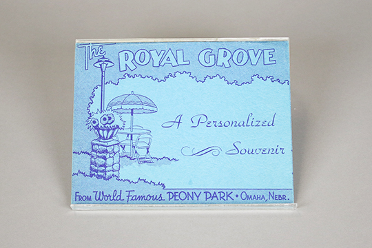 Souvenir photo from the Royal Grove in Peony Park