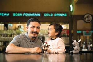 Family at Soda Fountain